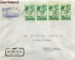 SYRIE SYRIA LETTRE MICHEL S. MAKHAT DAMAS JUDAÏCA JEWISH JEW STAMP TIMBRE PHILATELIE LIBAN LEBANON - Syrie