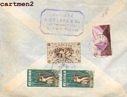 ILE DE LA REUNION SAINT-DENIS J. CHATEL § COMPAGNIE STAMP TIMBRE PHILATELIE DOM-TOM - Saint Denis