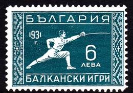 Bulgaria SG 312 1931 Balkan Olympic Games, 6l Green, Mint Hinged - 1909-45 Kingdom