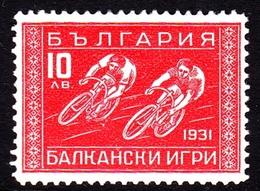 Bulgaria SG 313 1931 Balkan Olympic Games, 10 L Red, Mint Hinged - 1909-45 Kingdom