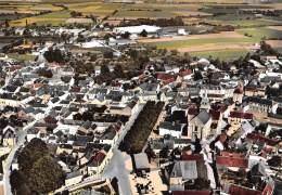 CHER  18   LES AIX D'ANGILLON  VUE AERIENNE - CENTRE DU BOURG ET PLACE DES TILLEULS - Les Aix-d'Angillon