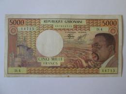 Rare! Gabon 5000 Francs 1978 Banknote - Gabon
