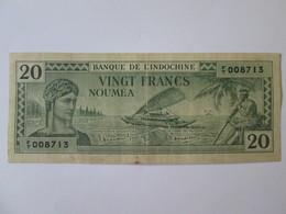 Rare! New Caledonia/Noumea 20 Francs 1944 Banknote - Nouvelle-Calédonie 1873-1985