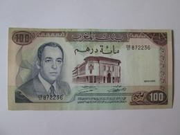 Morocco 100 Dirhams 1970 Banknote In Very Good Conditions - Morocco