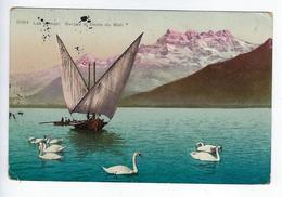 CPA Lac Léman Barque Et Dents Du Midi - VD Vaud