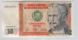 PERU 131b 1987 50 Intis UNC - Pérou