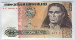 PERU 134b 1987 500 Intis UNC - Pérou
