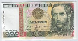 PERU 136b 1988 1000 Intis UNC - Peru