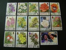Isle Of Man 1998-9 Flower Definitives + 1994 £2.50 Definitive (SG 773-785, 790) - Used - Man (Eiland)