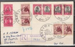 S.Africa, 1955 GABBEMA 23 II - 5.iii 55 C.d.s. Registered > PAARL (HUGENOT), Official 1d Ppair + 1d Coils - South Africa (...-1961)