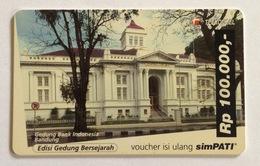 Indonesia Telefoonkaart - Telkomsel (BUILDING BANK INDONESIA BANDUNG) Simpati (Used) - Indonesia