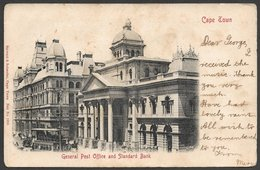 S Africa General Post Office, Standard Bank , Cape Town, Used 1908, , 1/2d , BAYVILLE C.G.H. > GRAHAMSTOWN - South Africa