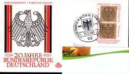 Bund 1969 Mi. 585 Als FDC Ersttagsbrief (pü0371) - [7] République Fédérale