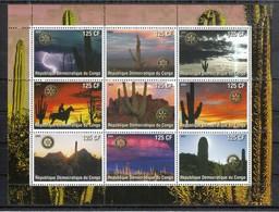 Kongo (Kinshasa) 2003**, Kakteen, Vignette / Kongo (Kinshasa) 2003, MNH, Cacti, Cinderella - Fantasie Vignetten
