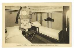 CPA PAQUEBOT CUBA CABINE DE 1ere CLASSE - Dampfer