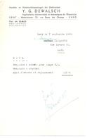 Factuur Facture - Rekening Nota Electriciteit Y.G. Dewalsch - Gent 1963 - Electricity & Gas