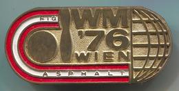 BOWLING / KEGELN - World Cup 1976. Wien Austria, Fiq, Vintage Pin, Badge, Abzeichen, D 50 X 25 Mm - Bowling