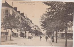 (R7) SAONE ET LOIRE , CHALON SUR SAONE , Boulevard De La République - Chalon Sur Saone