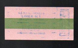 Venise -Venezia (Italie) Titre De Transport  Linea N°1  (PPP12360) - Other