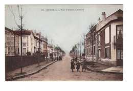 91 Corbeil Rue Alsace Lorraine Cpa Animée Carte Ancienne Colorisée - Corbeil Essonnes