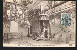 PALAIS DE MONACO -  La Salle Du Trone  -avec Timbre Monaco  1925 - Recto Verso-  Paypal Free - Prince's Palace