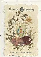 JERUSALEM BETHLEEM  IMAGES RELIGIEUSES CHROMOGRAPHIE FLEURS VIERGE CHRIST ENFANT JESUS RELIGION CROIX MONT DES OLIVIERS - Religion & Esotérisme