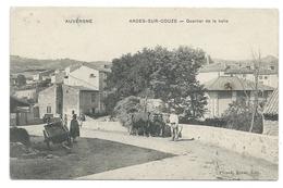 ARDES-SUR-COUZE (Puy De Dôme) - Quartier De La Halle - Animée - Attelage Boeufs - France