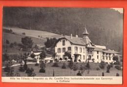 GCD-02 Geneveys-sur-Coffrane Val De Ruz, Villa Les Tilleuls, Propriété De M. Camille Droz Botaniste.Circulé En 1921 - NE Neuenburg