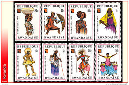 Rwanda 0704/11**  Folklore Et Costumes   MNH - Rwanda