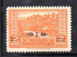 105 - 490 - ALBANIA 1928 , Soprastampato Yvert N. 188  *.Punto Di Colore - Albania