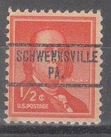 USA Precancel Vorausentwertung Preo, Locals Pennsylvania, Schwenksville 734 - Vereinigte Staaten
