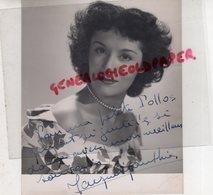 PHOTO ORIGINALE DEDICACEE JACQUELINE GAUTHIER-ACTRICE CINEMA-1921-1982 PARIS-AU BONHEUR DES DAMES - Foto Dedicate