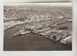 CPSM BOULOGNE SUR MER (Pas De Calais) - En Avion Au-dessus De.....Panorama La Gare Maritime - Boulogne Sur Mer