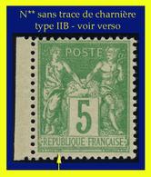 N° 106 GROUPE ALLÉGORIQUE SAGE TYPE IIB 1894 - N** SANS TRACE DE CHARNIÈRE - VOIR VERSO - - 1876-1898 Sage (Type II)
