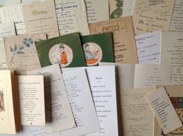 Collection De 45 Menus , Quelques Doubles - Menus
