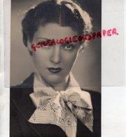 GRANDE PHOTO ORIGINALE STUDIO IRIS PARIS-DEDICACEE VERA KORENE- KORETZKY-ACTRICE CINEMA-1901 BAKHMOUT-1996 LOUVECIENNES- - Fotos Dedicadas