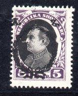 114 - 490 - ALBANIA 1927 , Zogou : Yvert N. 187 * - Albania