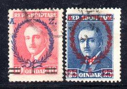 116 - 490 - ALBANIA 1928 , Zogou : Serie Yvert N. 188/189 Usata - Albania