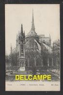 DF / 75 PARIS / MONUMENT DEVANT L' ABSIDE DE NOTRE-DAME - Notre Dame De Paris