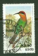 Zambia: 1989   Surcharges    SG590   K9.90 On K1.70     Used - Zambia (1965-...)