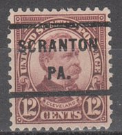 USA Precancel Vorausentwertung Preo, Locals Pennsylvania, Scranton 693-232 - Vorausentwertungen