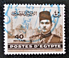 ROYAUME - ROI FAROUK 1939/45 - RARE OBLITERATION BLEUE - YT 214 - Egypt
