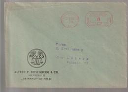 T 294) AFSt Hamburg 1 1953: Abs: Rosenberg & Co. ROCO (Getreide Waage) - Lettres & Documents