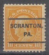 USA Precancel Vorausentwertung Preo, Locals Pennsylvania, Scranton L-4 E, Perf. 12x12 - Vereinigte Staaten
