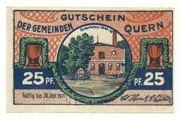 1921 - Germania - Quern Notgeld N20, - [11] Lokale Uitgaven