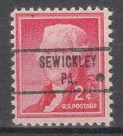 USA Precancel Vorausentwertung Preo, Locals Pennsylvania, Sewickley 734 - Vereinigte Staaten