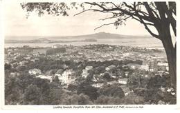 POSTAL    AUCKLAND  -NUEVA ZELANDA  - MIRANDO A RANGITOTO DESDE EL MONTE EDEN - Nueva Zelanda