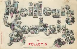 MEILLEURS SOUHAITS DE FELLETIN - Carte Multi-vues. - Felletin