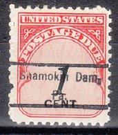 USA Precancel Vorausentwertung Preo, Locals Pennsylvania, Shamokin Dam 809 - Vereinigte Staaten