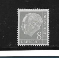 BRDMi.Nr.182 / Heuss,8 Pfg 1954..   ** MNH - Nuevos